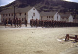 Troops marching in formation, Camp Hale, Colorado