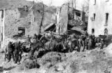 Italian Alpini Mule Train bringing supplies to Pietra Colora, Italy