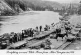 Freighting around White Horse from Miles Canyon in 1898