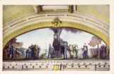 Scene at the completion of the U.P.R.R. mural painting, Union Station, Salt Lake City, Utah
