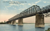 Union Pacific R.R. Bridge, between Omaha, Neb., and Council Bluffs, Iowa