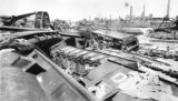Another view of the wreck from top of D. & R. G. Pullman Santa Fe bridge standing, D & RG...