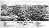 Bird's eye view of Canon City, Colo.