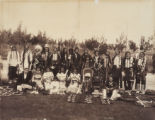 Chief Buckskin Charlie and band of Ute Indians