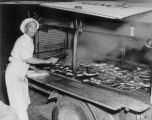 Elk Falls Ranch: Elmer Berg's BBQ rig, Ozzie and his steaks
