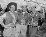 "Three amigos Claude ""Gravey"" Graves (theater owner), Roy Miller (J.C. Penney), Harry..."