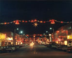 Looking east on Main St. our main street at Christmas time when the lights are turned on.