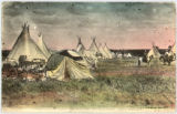Ponca Indian camp on 101 Ranch, Oklahoma