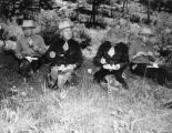 Lunch stop, Ray Davis, Elmer Berg, Doc Hunt, Bob Hill