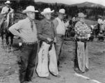 At Elmer Bergs Elk Falls Ranch Harry Short, Dr. Jack Lamb, Tony Archer, Claude Wright, and Captain...