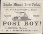 Post Boy! : the new, light draught and elegant passenger steamer.