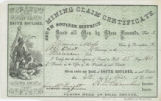 Mining claim certificate : know all men by these presents, that I, Thomas Moss claim by...