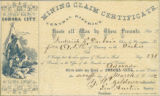 Mining claim certificate : know all men by these presents, that I, Frederick K. Dubois claim ......