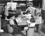 Children in WPA day nursery