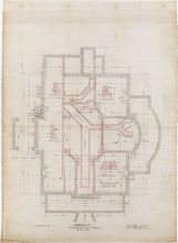 Foundation plan residence for Mr. John F. Campion, Denver, Colo.