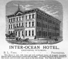Inter-Ocean Hotel, Cheyenne, Wyoming, B.L. Ford, proprietor
