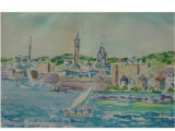 Minarets and windmills of Rhodes [art original].