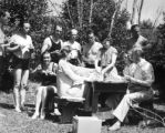 Picnic of Merry widow cast, Central City