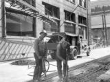 Men working on tramway loop