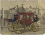 People on a stagecoach