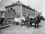 Load 130 sacks 16940 lbs of potatoes hauled in 4 miles on Studebaker wagon to Northern Col....