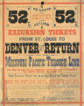 St. Louis to Denver and return excursion tickets from St. Louis to Denver and return via the...