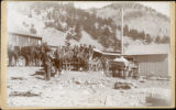 Eldora Stage at the Sunset Station on the Colorado and Northwestern R.R..