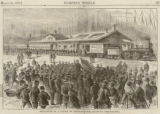 Departure of a colony of emigrants for Colorado