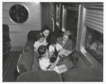 Children and Southern Pacific stewardess / RN