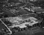 Aerial view of construction at CU Boulder