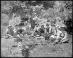 Picnic party on the Fryingpan, Colo. Midland Ry.