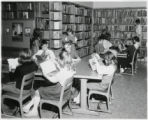 Knight School students in library