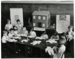 Mitchell School students and Raggedy Ann's House