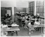 Newlon School classroom of students working
