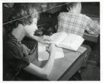 Palmer School girl writing