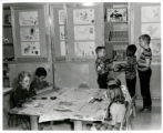 Palmer School students painting