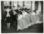 Steck School students dancing minuet