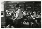 Baker Junior High students in library