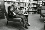 Boys reading in Woodbury Branch
