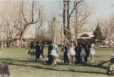 Decker Branch library Maypole celebration dance