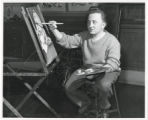 Charles Boettcher School student painting
