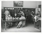 Barnum Elementary School class in library
