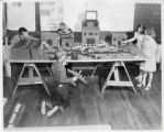 Bromwell School students with model airport