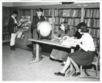 Edison School students in library