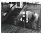 Old Gilpin School interior staircase