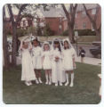 St. Philomena girls before communion