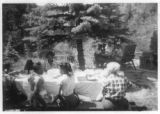 Outdoor picnic at Camp Nizhoni