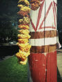 Decorated phone pole