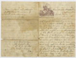 Letter to Samuel L Dewel (Duel) from A. Hosterman