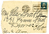 Envelope postmarked from Paris, France